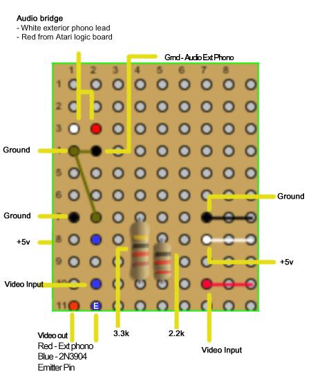 atari six switcher 2600 video modification