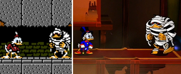 Left DuckTales NES, Right Ducktales Remastered